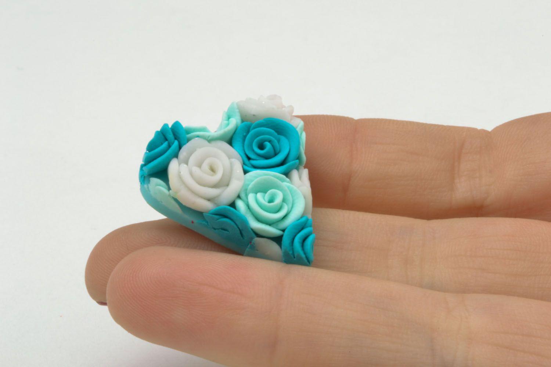 Брошь цветок из полимерной глины как сделать