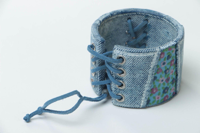 Bracelet large en pâte polymère Bijou fait main original Cadeau pour femme photo 4