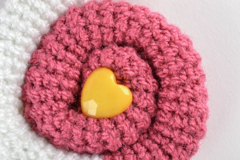 jouets tricotés Peluche tricotée au crochet Escargot rose - MADEheart.com