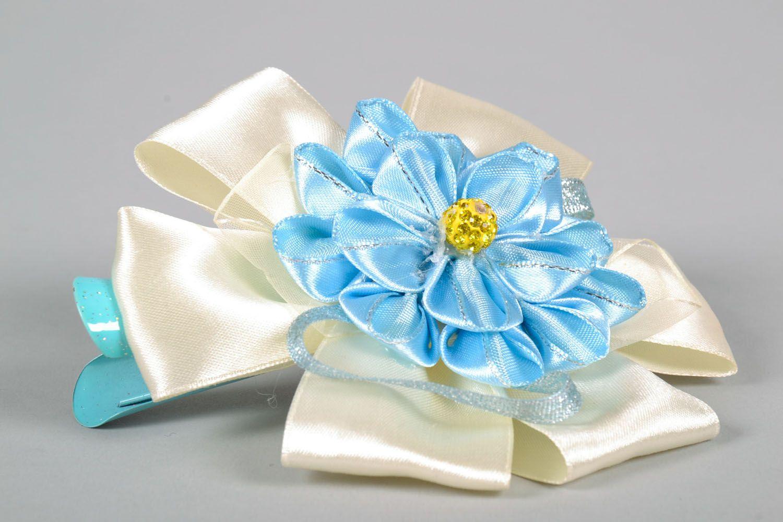 Haarspange aus Stoff mit Blumen foto 4