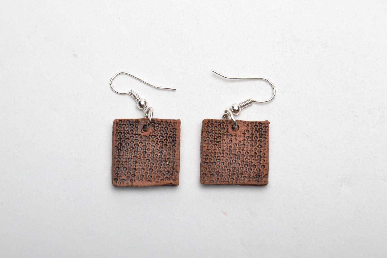 Ceramic earrings in ethnic style photo 4