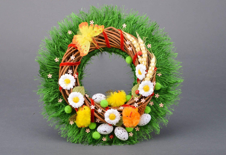Handmade beautiful decorative door wreath Easter festive beautiful interior ideas photo 1