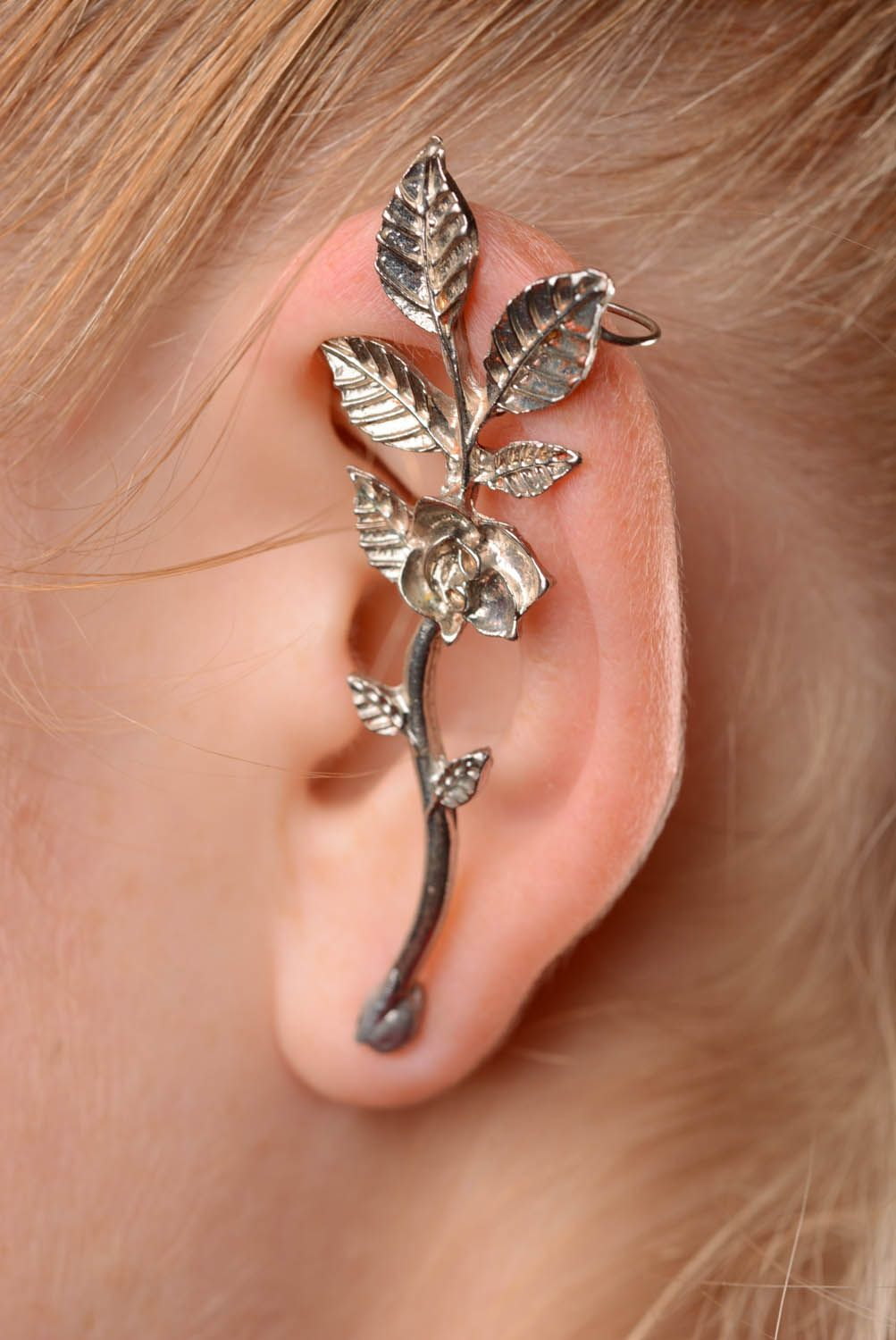 Designer's cuff earring Flower Pot photo 3