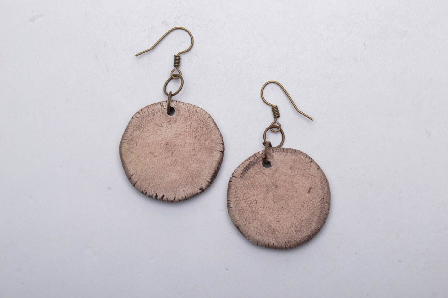Ceramic earrings with charms photo 5