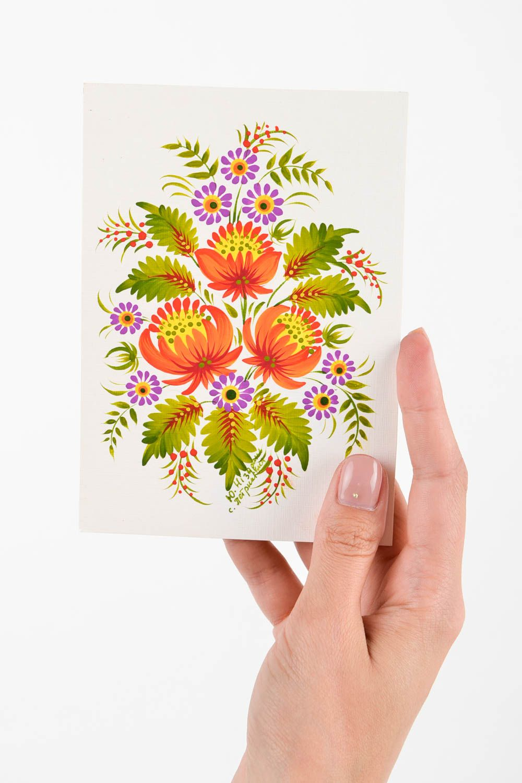 Unusual handmade greeting cards flower greeting card vintage post card photo 2
