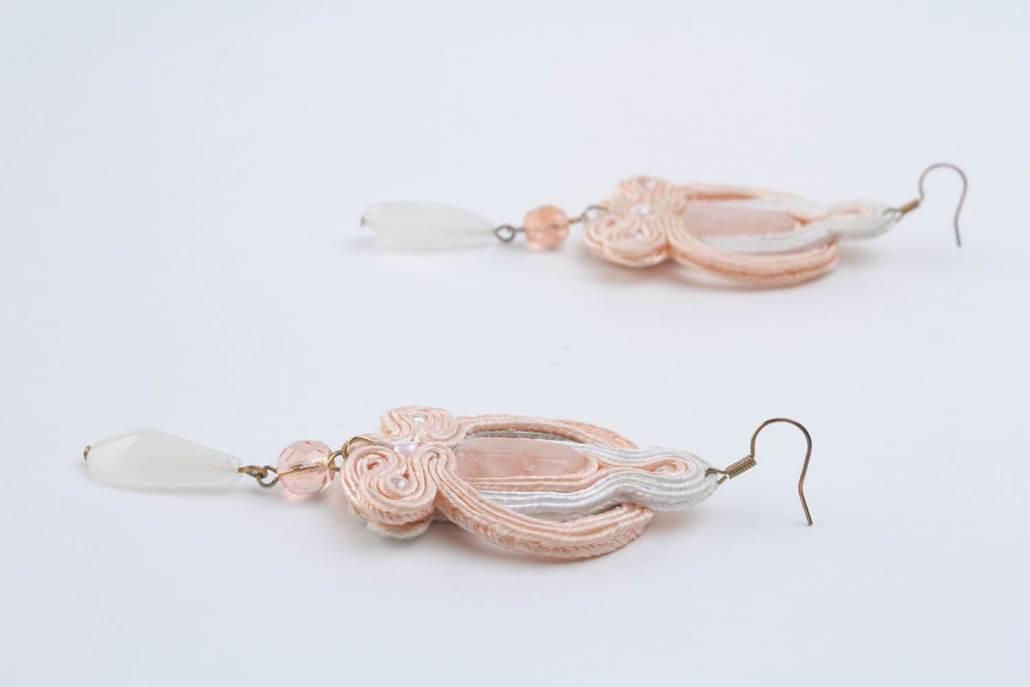 Long soutache earrings  photo 4