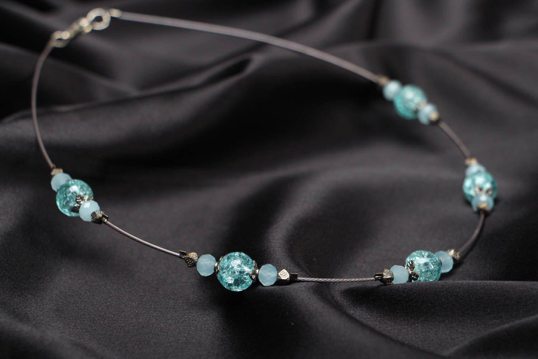 Festive beaded necklace photo 2