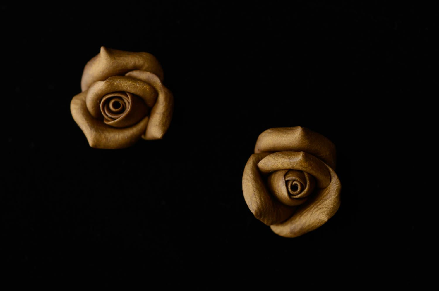 Unusual polymer clay earrings Roses photo 4