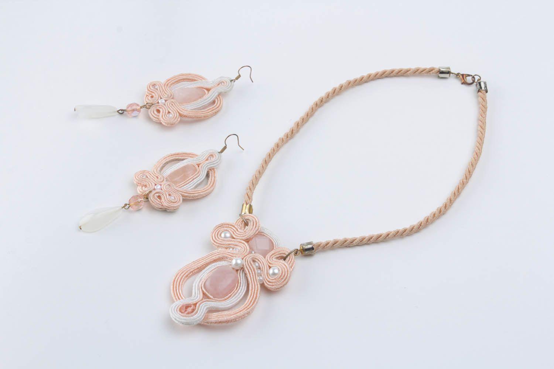 Soutache cord jewelry set photo 2