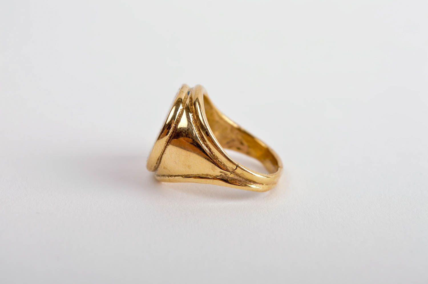 Stylish beautiful ring handmade brass ring metal accessory unisex ring photo 3