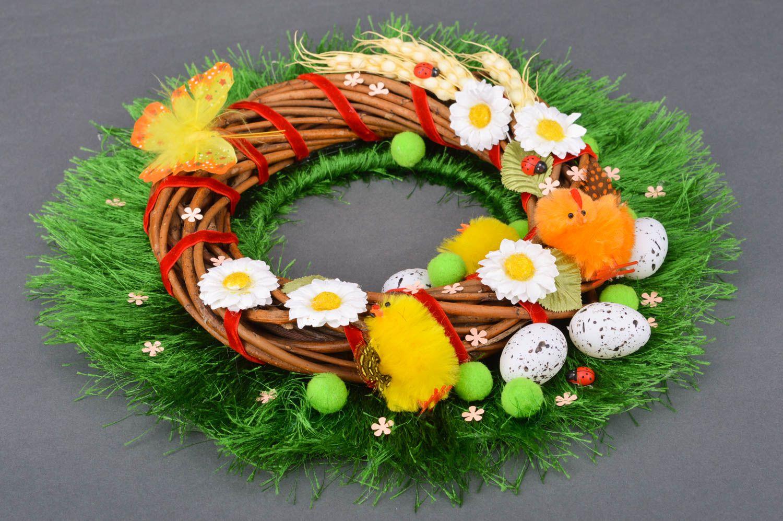 Handmade beautiful decorative door wreath Easter festive beautiful interior ideas photo 2