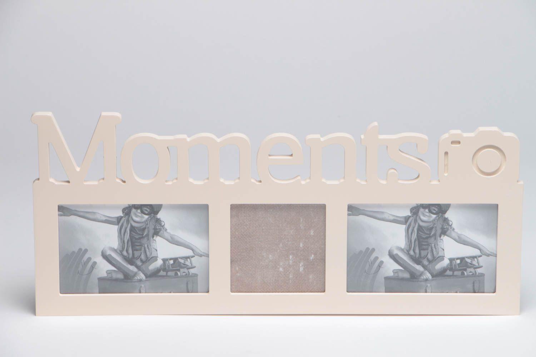 MADEHEART > Marco para fotos artesanal original con palabra Moments ...