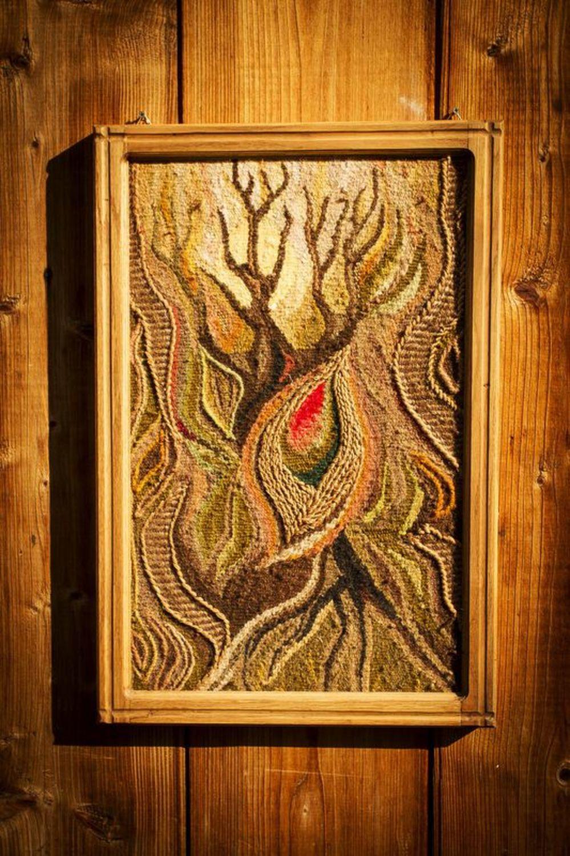 """MADEHEART > Tapiz mural enmarcado """"Árbol de la vida"""""""