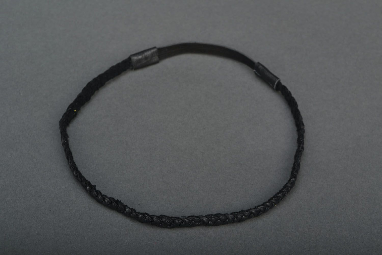 Haarband aus Leder foto 3