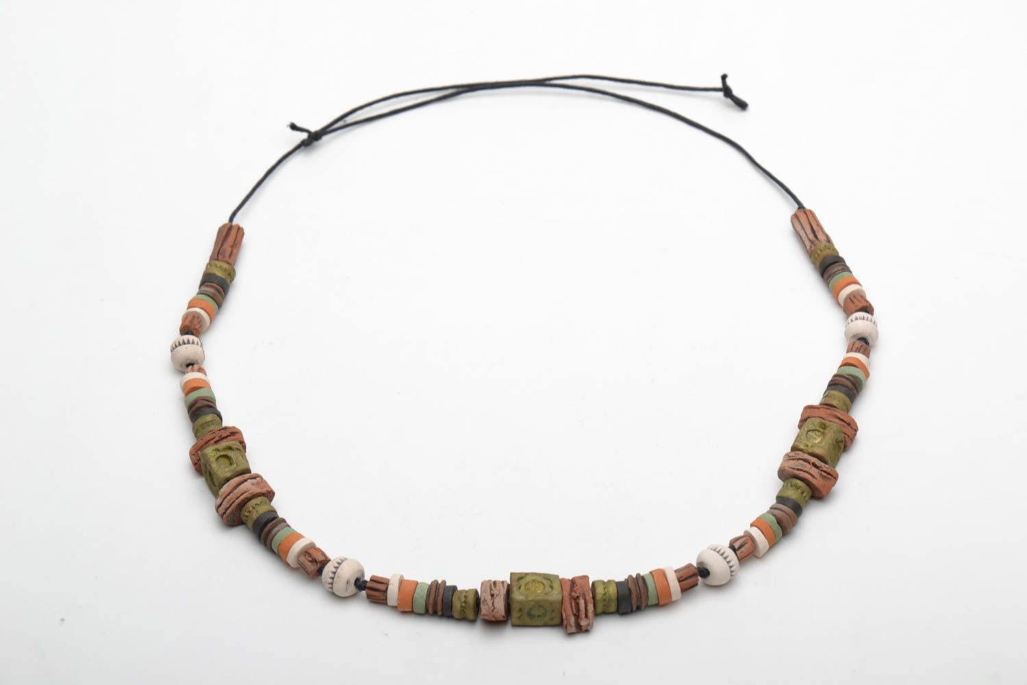 Colorful clay necklace photo 4