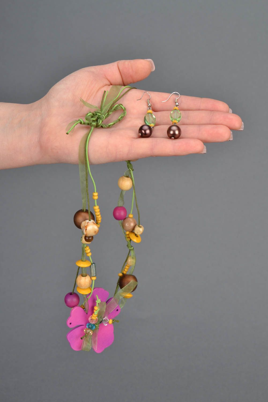 Homemade jewelry set Spring photo 2