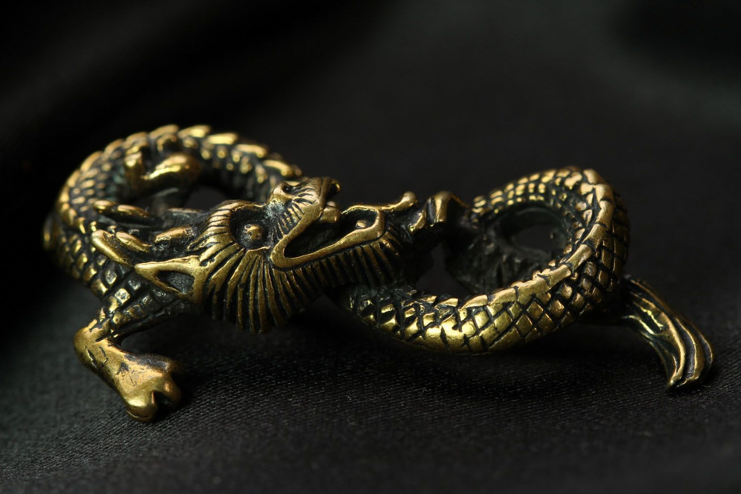 Unusual bronze pendant Dragon photo 2