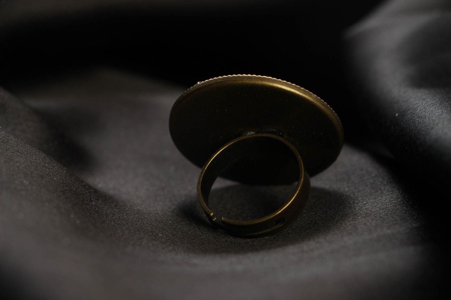 Large metal ring in cyberpunk style photo 3