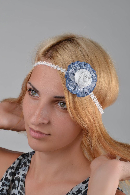 Повязка на голову с цветком фото