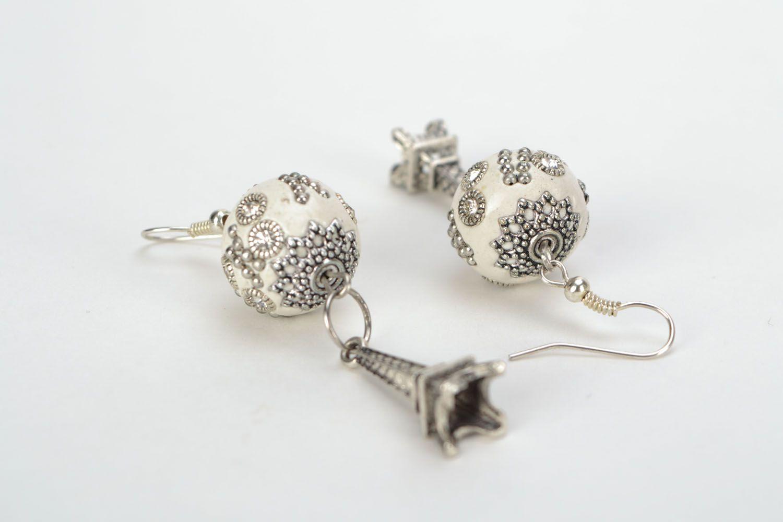 Earrings with rhinestones photo 5