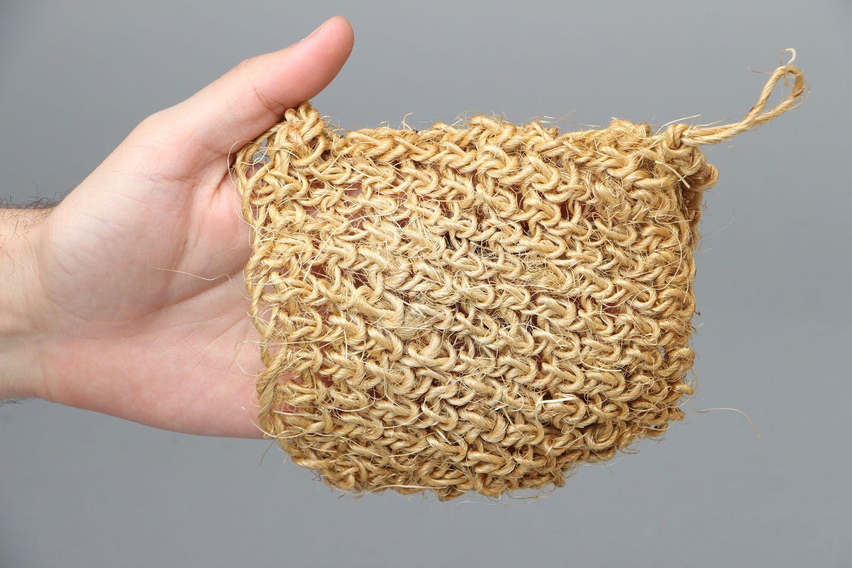 Sisal crochet body scrubber  photo 4
