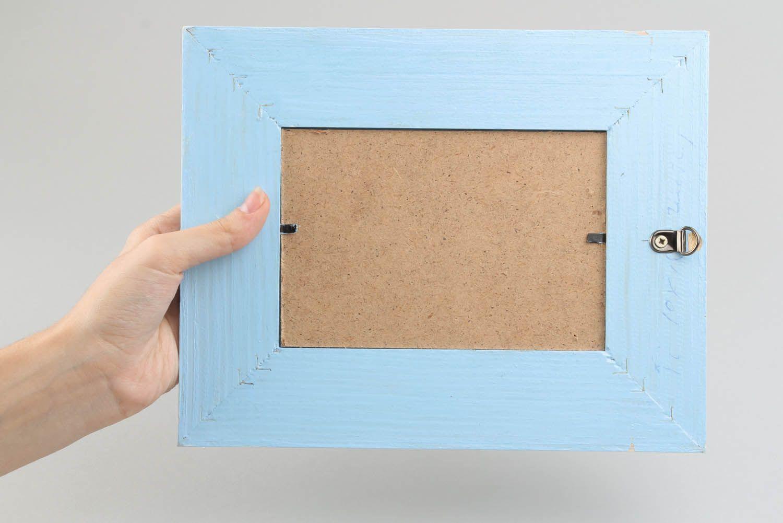 Wooden decoupage photoframe photo 2