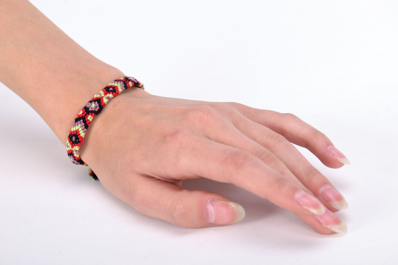 Bright woven friendship bracelet photo 5