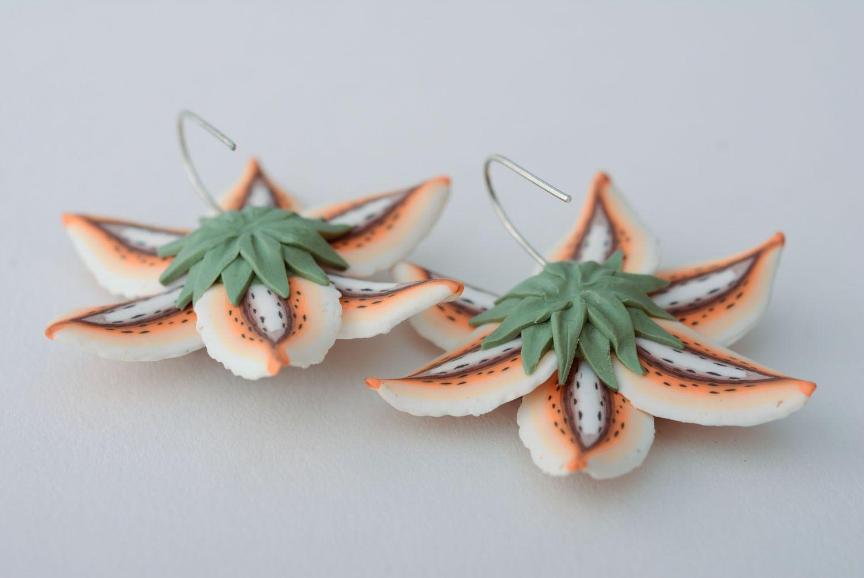 Handmade floral earrings photo 5
