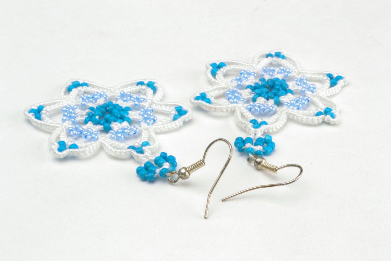 Crocheted handmade earrings photo 3