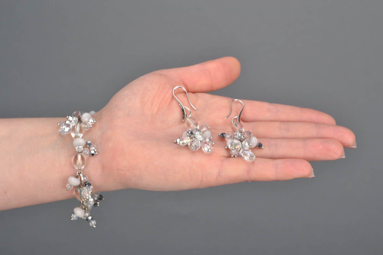 Jewelry set with plastic beads photo 2