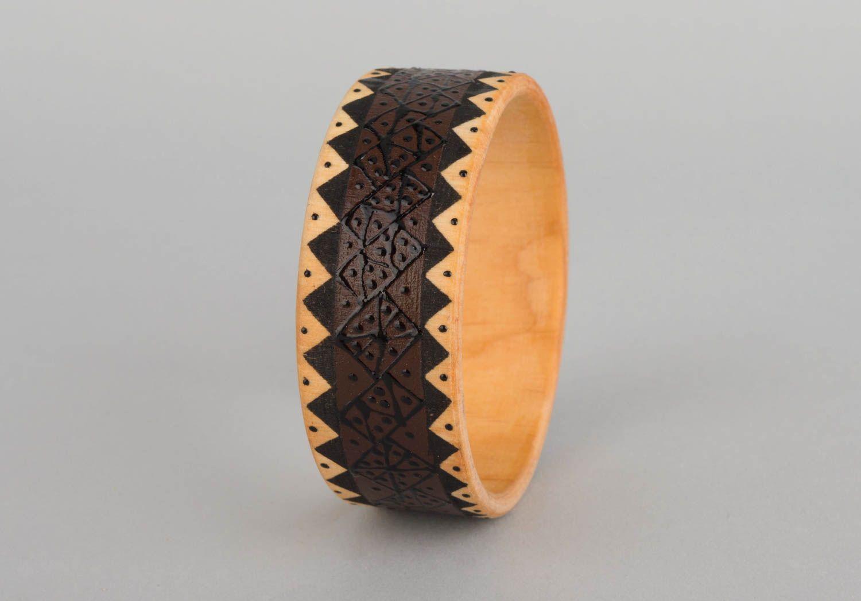 Браслеты ручной работы браслет из дерева красивый браслет дизайнерское украшение фото 4
