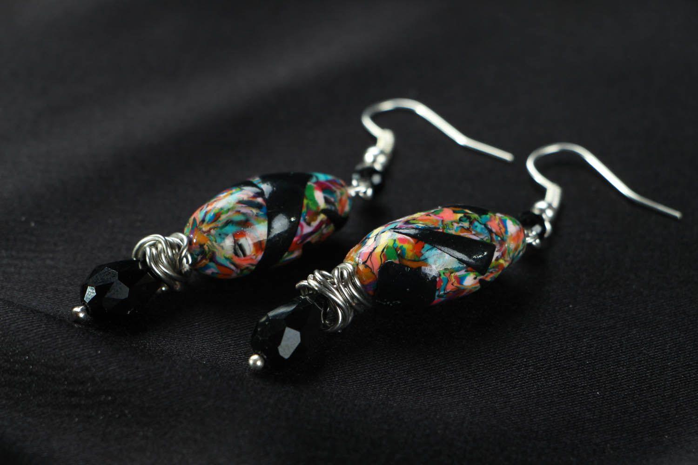 drop earrings Polymer clay earrings
