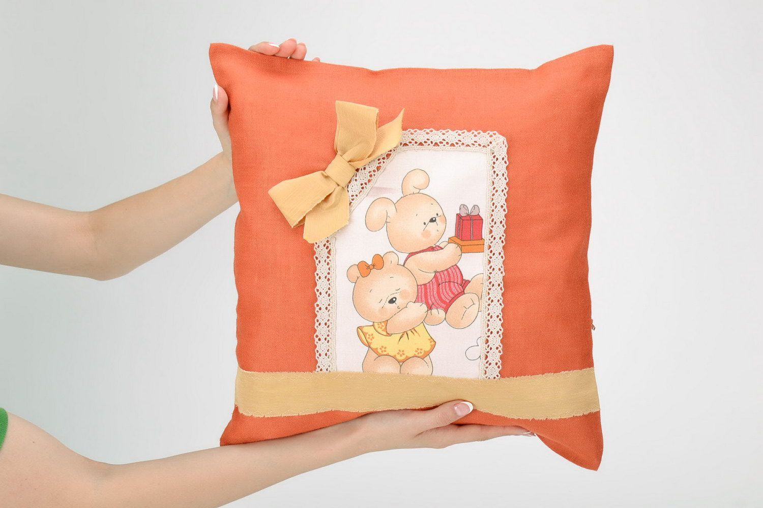 Cotton pillow-case with teddy-bears photo 5