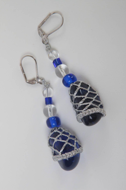 Beautiful handmade beaded earrings dangle earrings photo 2