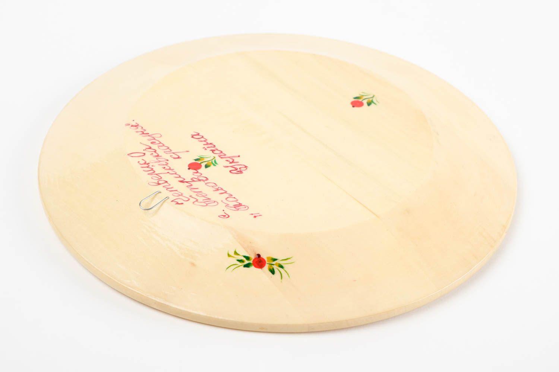 Декоративная посуда ручной работы деревянная тарелка настенный декор с росписью фото 5