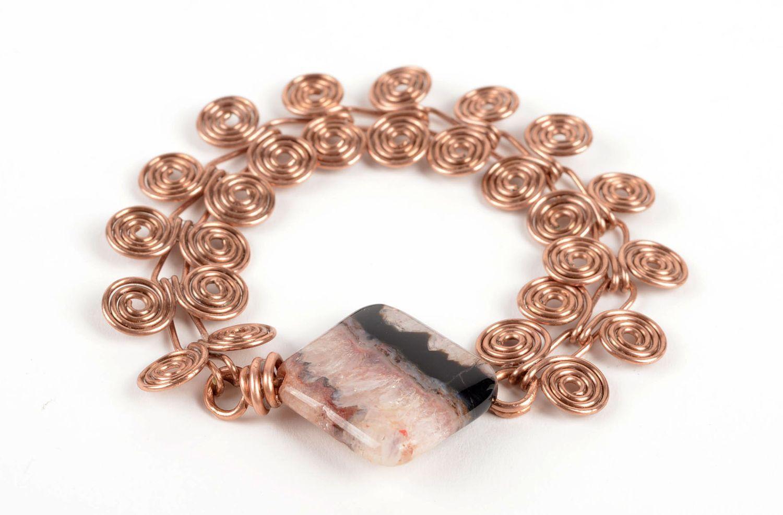 pulseras de metal Brazalete de cobre hecha a mano bisutería artesanal accesorio para mujeres , MADEheart