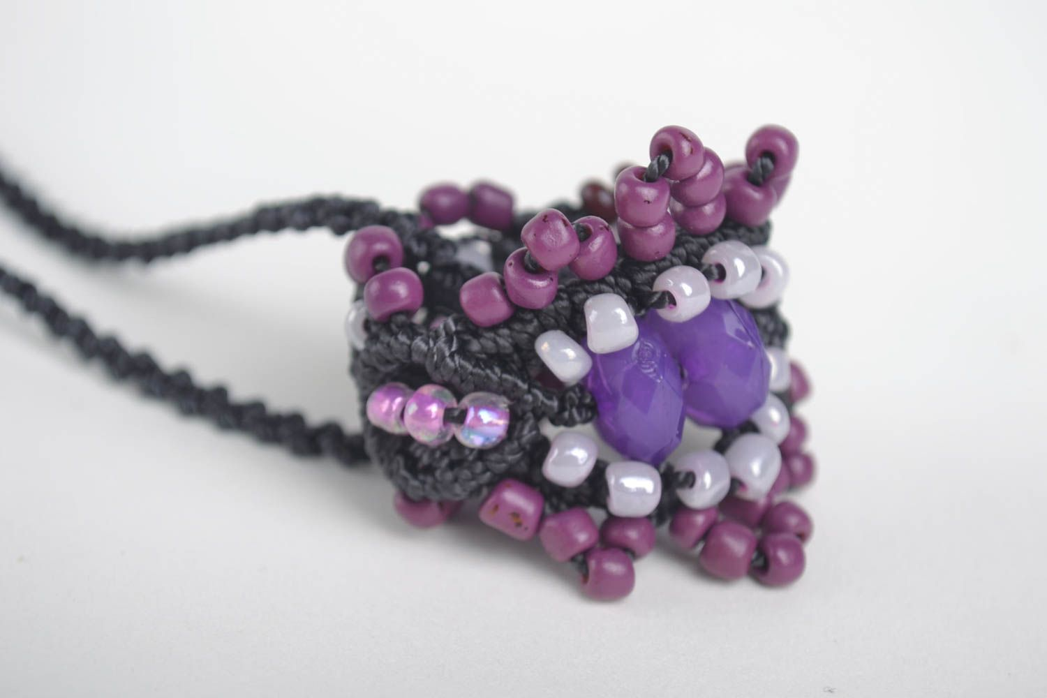 Macrame necklace handmade necklace homemade jewelry women accessories gift ideas photo 2