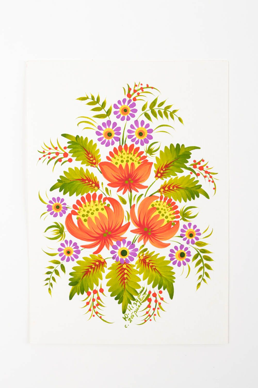 Unusual handmade greeting cards flower greeting card vintage post card photo 5