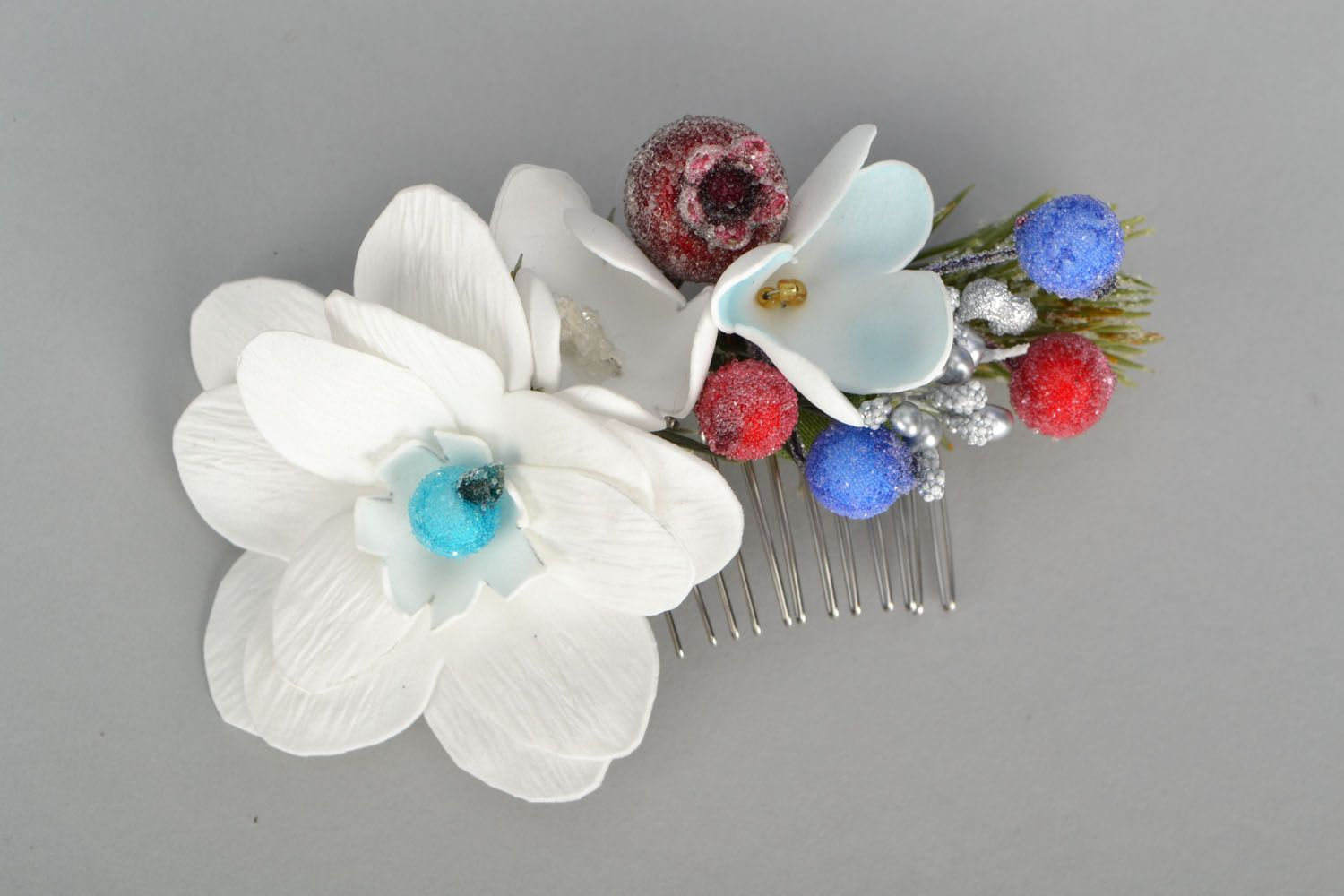 combs and hair brushes Elegant flower comb - MADEheart.com