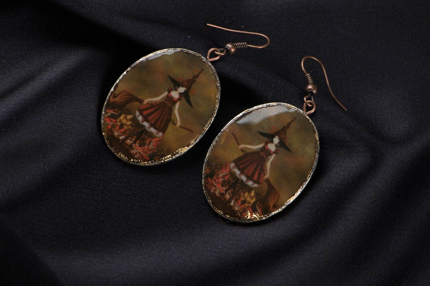 Polymer clay earrings Fairy photo 3