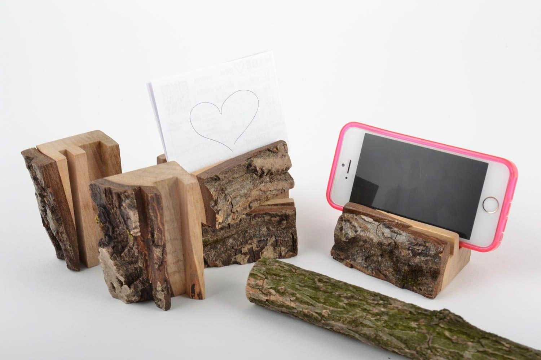 Madeheart u003e porte téléphone en bois faits main écologiques originaux