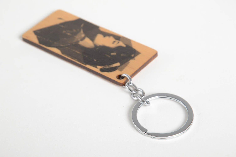 Breloques porte clé en bois porte clef fait main accessoire design cadeau pour femme