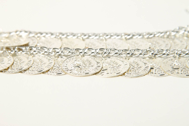 Metal bracelet handmade coin bracelet stylish jewelry fashion bracelet photo 4