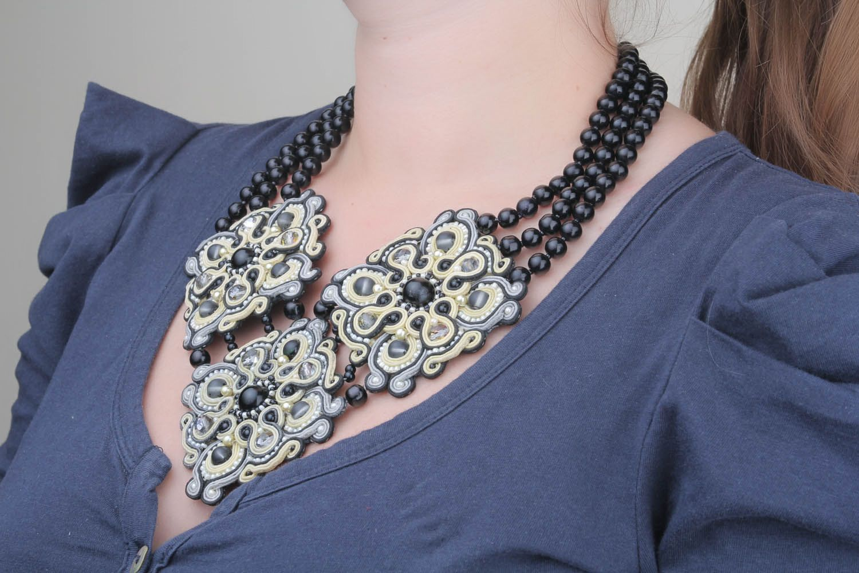 Soutache necklace  photo 1
