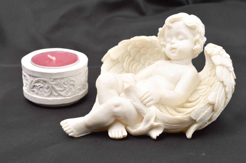 Madeheart figura de angelito hecha a mano de yeso figura - Angelitos de yeso ...