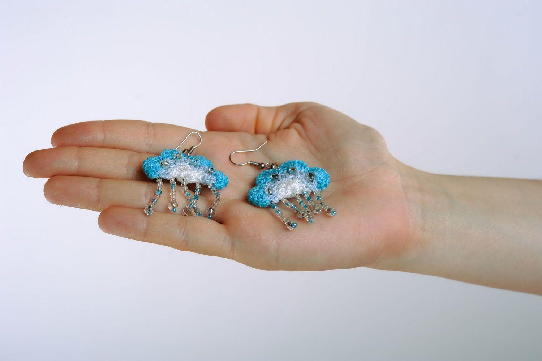 Acrylic earrings Heaven photo 3