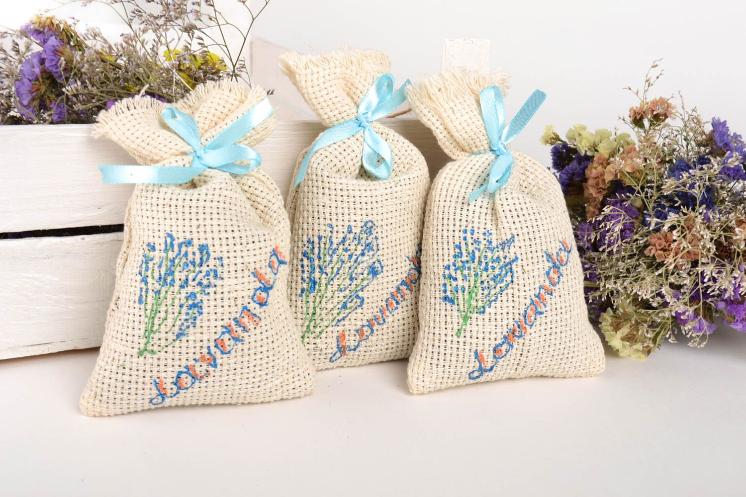Sachet pillows handmade lavender sachets aroma therapy homemade gifts for friend photo 1