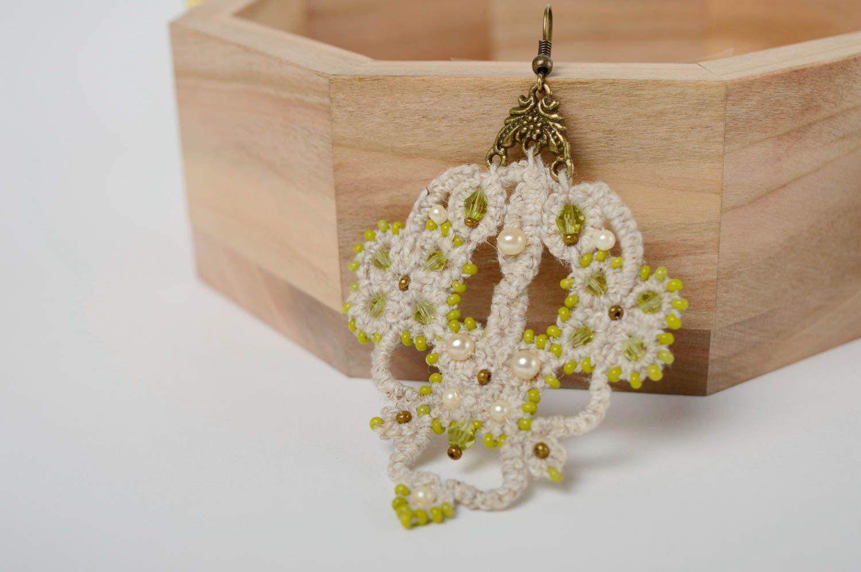 Lacy crochet earrings Orient photo 3