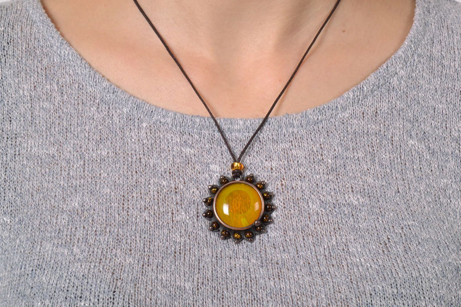 Stained glass pendant photo 5