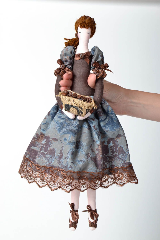 Decorative doll made of natural fabrics photo 4